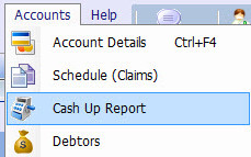 Cash up report 2